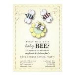Happy Bee Family Couples Baby Gender Reveal Party Card