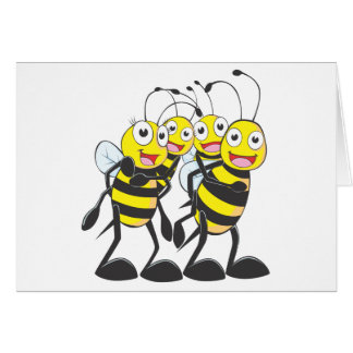 Happy Bee Family Greeting Cards