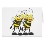 Happy Bee Family Having Fun Together Greeting Card