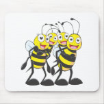 Happy Bee Family Having Fun Together Mouse Pad