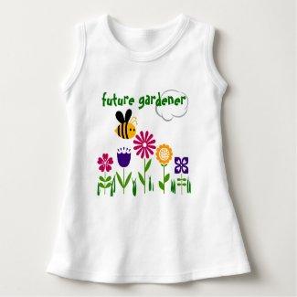 Happy Bee Flower Garden FUTURE GARDENER Tee Shirt