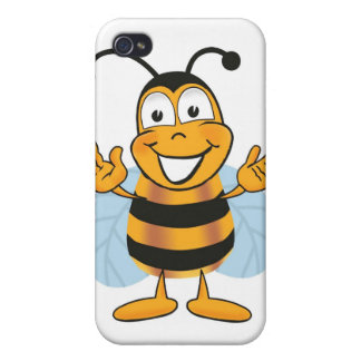 Happy Bee i phone 4 case Cases For iPhone 4