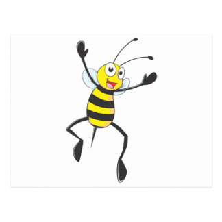 Happy Bee Jumping for Joy Postcard
