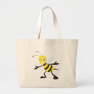 Happy Bee Large Tote Bag