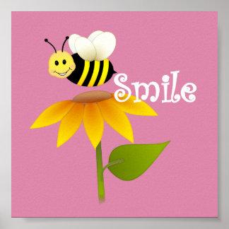 Happy Bee/ Nursery Decor