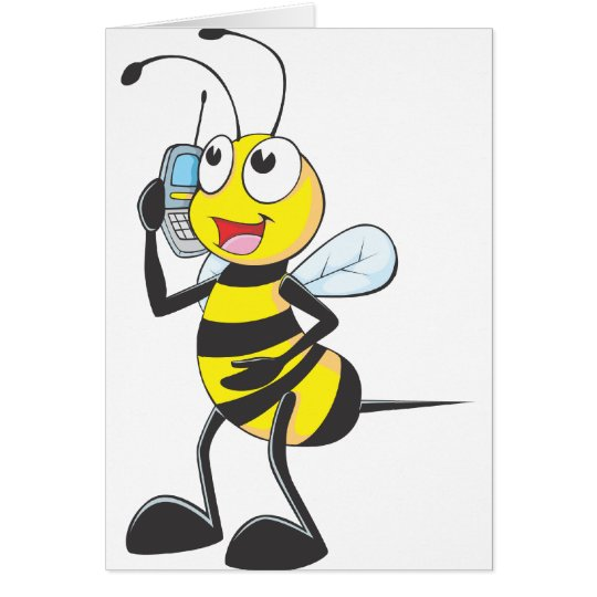 Happy Bee on Phone Card