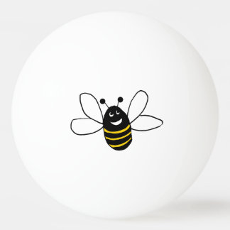 happy bee ping pong ball
