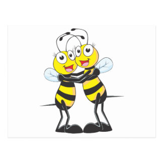 Happy Bee Sisters Postcard