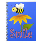 Happy Bee Spiral Note Books