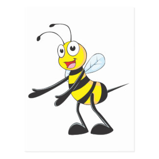 Happy Bee Welcoming You Post Card