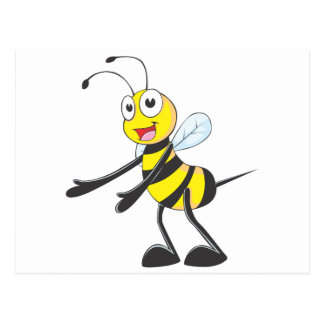 Happy Bee Welcoming You Postcard