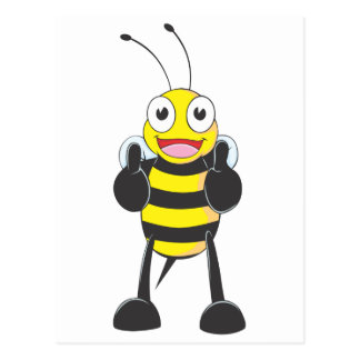 Happy Bee with Gesture of Approval Postcard