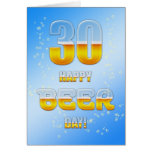 Happy Beer day 30th birthday card
