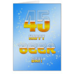 Happy Beer day 45th birthday card