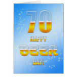 Happy Beer day 70th birthday card