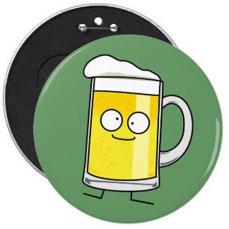 Happy Beer Mug Pinback Button