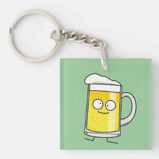 Happy Beer Mug Acrylic Key Chains