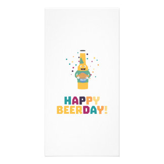 Happy Beerday Beerbottle Zhnp3 Card