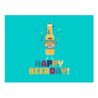 Happy Beerday Beerbottle Zhnp3 Postcard