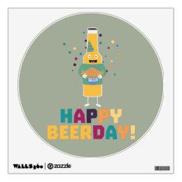 Happy Beerday Beerbottle Zhnp3 Wall Sticker
