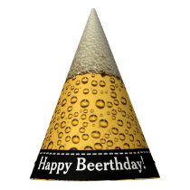 Happy Beerthday! Adult's Beer Birthday Party Hat