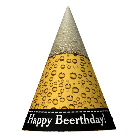 Adults Beer Birthday Party Hat
