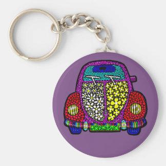 Happy beetle keychain