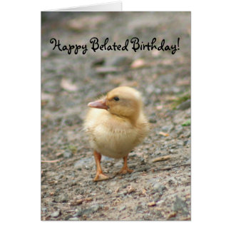 Happy Belated Birthday Duckling greeting card