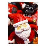 Happy Belated Christmas santa greeting card