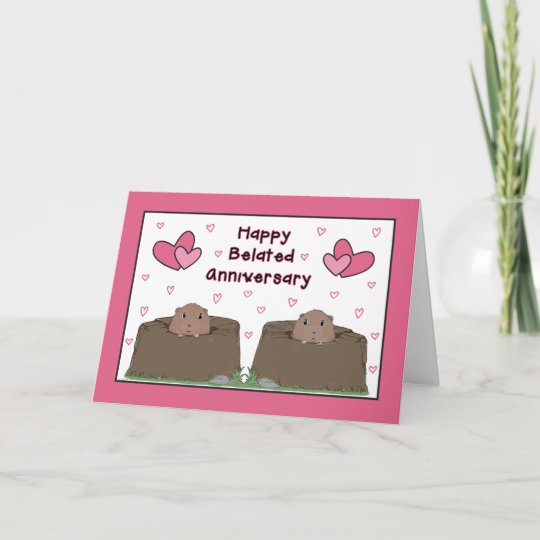 Happy belated groundhog day anniversary card zazzle happy belated groundhog day anniversary card m4hsunfo
