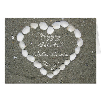 Happy Belated Valentine's Day Seashell clam card