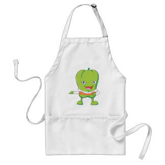 Happy Bell Pepper Customer Service Personnel Adult Apron