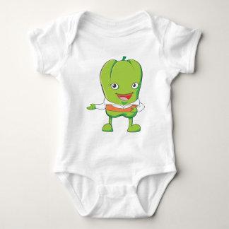 Happy Bell Pepper Customer Service Personnel Baby Bodysuit
