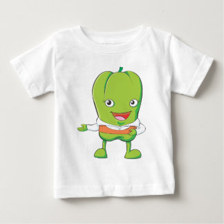 Happy Bell Pepper Customer Service Personnel Baby T-Shirt