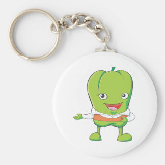 Happy Bell Pepper Customer Service Personnel Keychain
