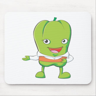 Happy Bell Pepper Customer Service Personnel Mouse Pad