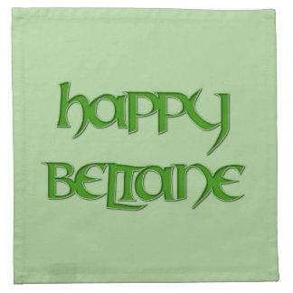 Happy Beltane Cocktail Napkins (Cloth)