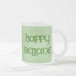 Happy Beltane Frosted Beer Mug