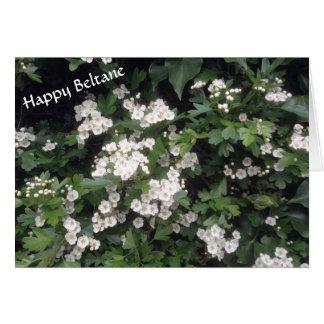 Happy Beltane (hawthorn blossom) Card