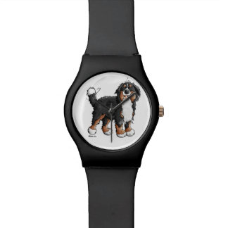 Happy Bernese Mountain Dog Cartoon Watch