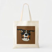 Happy Bernese Mountain Dog Tote Bag