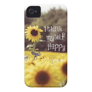 Happy Bible Verse with Sunflowers Case-Mate iPhone 4 Case