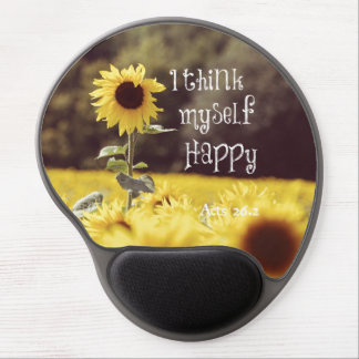 Happy Bible Verse with Sunflowers Gel Mouse Pad