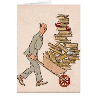 Happy Bibliophile 1930 Card