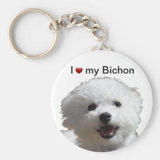 Happy Bichon Keychain
