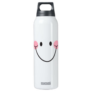 Happy big smile smiley face custom SIGG thermo 0.5L insulated bottle