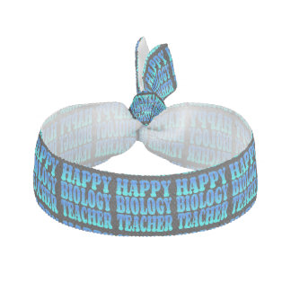 Happy Biology Teacher Ribbon Hair Tie