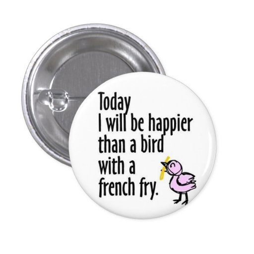 Happy Bird Buttons