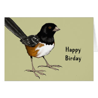 Happy Birday: Pun, Bird Illustration: Birthday Greeting Card