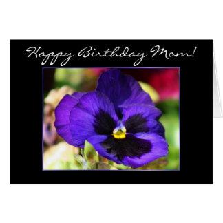 Happy Birhtday Mom Pansy Flower greeting Card